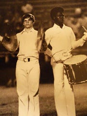 Members of the Jackson Central-Merry Marching Band