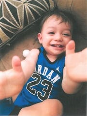 1-year-old Jayden Cortez was taken Thursday night from the 31-500 block of Whispering Palms in Cathedral City. Police said the boy and his 2-year-old brother were found safe inside the stolen vehicle in Desert Hot Springs early Friday.