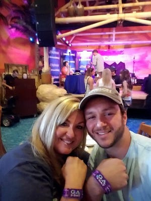 Sonny Melton, and his wife Heather, at a concert.