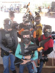 On his 12th birthday, Sawyer's mom took him and his friends to play paintball.