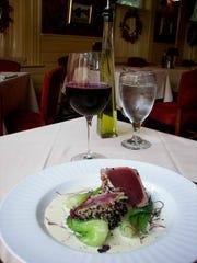 Ahi tuna from the Tewksbury Inn.