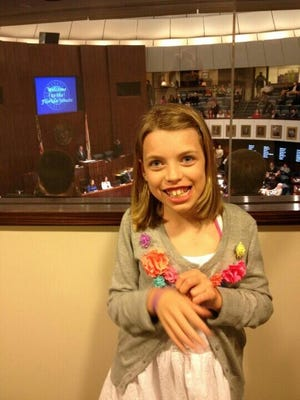 RayAnn Moseley, from Gulf Breeze, suffers from a rare form of epilepsy as well as cerebral palsy and has become the poster child for a strain of marijuana that is high in cannabidiol and low in euphoria-inducing THC.