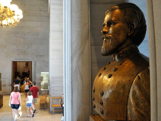 Since 1978, a bust of Confederate Lt. Gen. Nathan Bedford Forrest has been in a nook outside the House and Senate chambers at Tennessee's state capitol in Nashville.