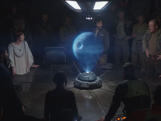 "A scene from the film ""Rogue One: A Star Wars Story."""
