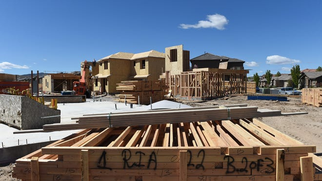 Housing under construction in Sparks on April 15, 2016.