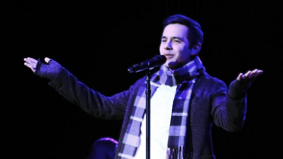 Between songs David Archuleta shared stories from his