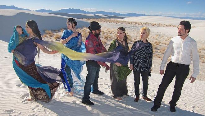 Kenji Williams, right, with members of his Bella Gaia ensemble.