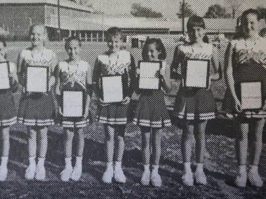 The 2000 Sturgis 6th grade cheer team is pictured above. They are, Kristin Hutchison, Blayr Omer, Susan Hendrickson, Jessie Moman, Heather Harper, Cori Wadlington, and Hilary James.