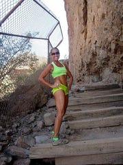 Mel Branta poses while hiking the Echo Canyon Trail