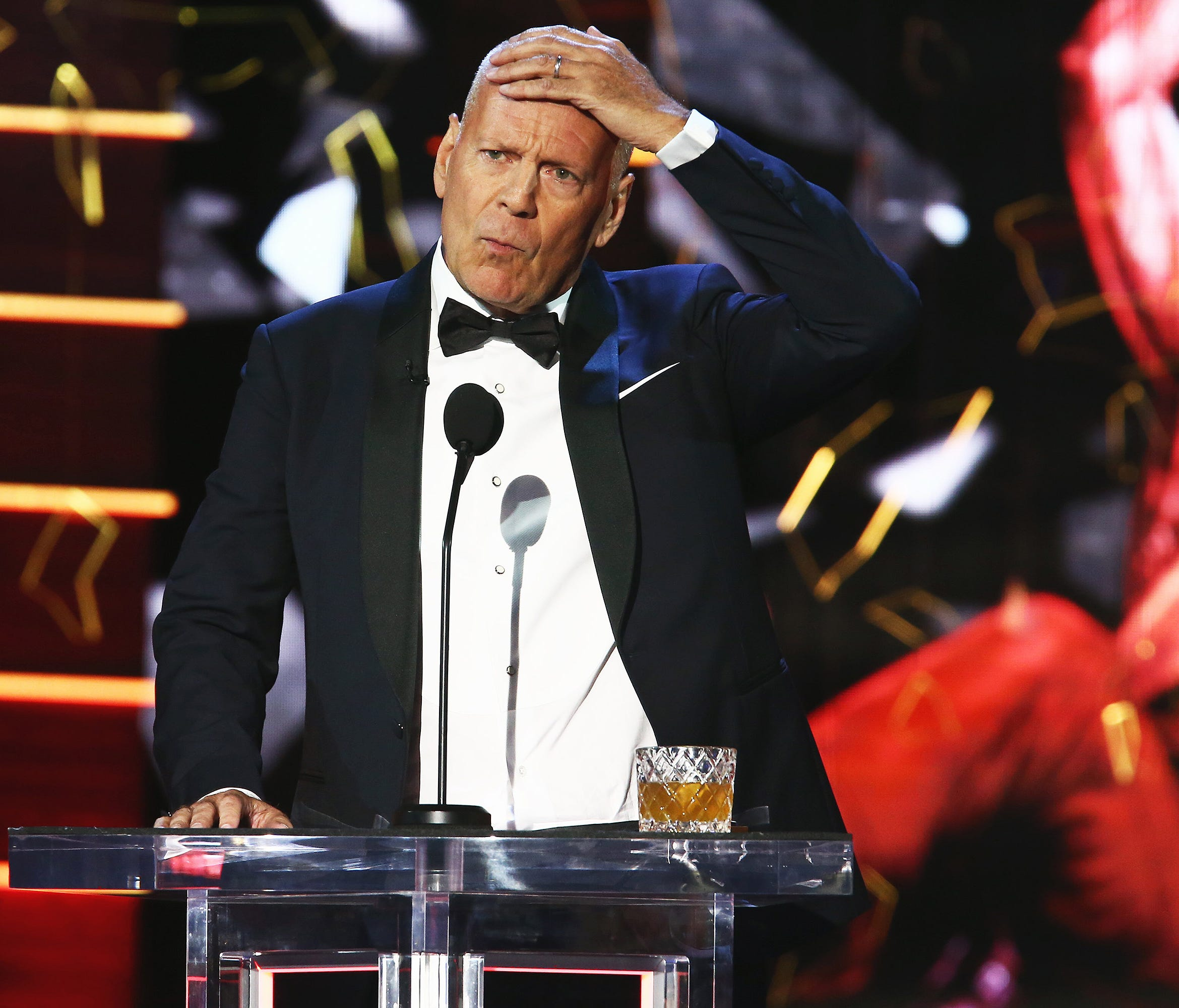 Bruce Willis is the target of insults in a bizarre night filled with #MeToo and
