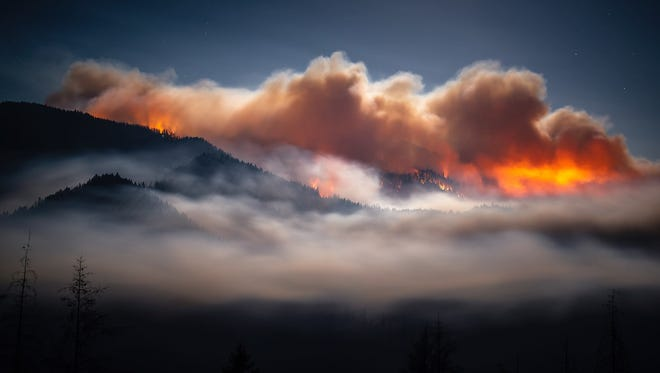 The Taylor Creek Fire roared to life on Thursday and is expected to remain active on Friday.