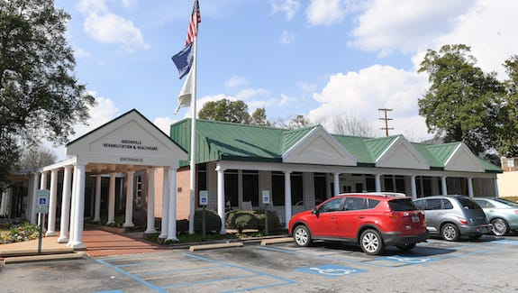 Upstate nursing home Greenville Rehabilitation and Healthcare Center in Greenville on Tuesday, March 21, 2017.