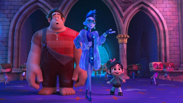 Yesss (voiced by Taraji P. Henson, center) shows...