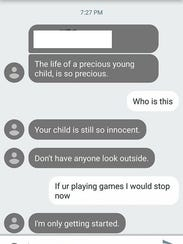 A Johnston mother received these text messages the