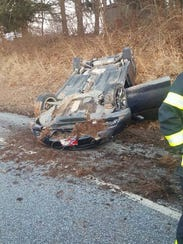 Officials responded to a crash in Peach Bottom Township,