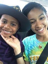 Lamar Richardson, 6, and Jaybryana Lopez, 22, were