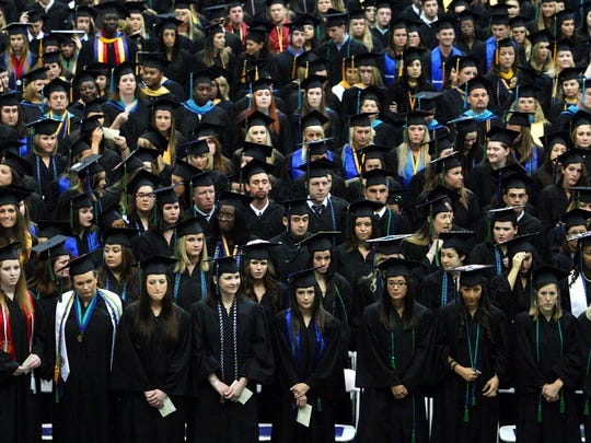 More than 1000 students were awarded degrees on March 1, 2011 during Florida Gulf Coast University's commencement at Alico Arena in Fort Myers.