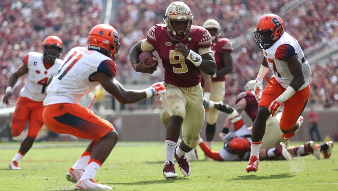 Florida State running back Jacques Patrick is looking to win the battle as his team's primary tailback next fall.