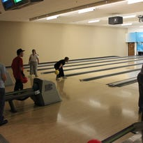 The Mesquite Special Olympics team practice their bowling a the Virgin River Casino bowling center.