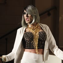 <p>Anna Freeze hosted APSU Gay-Straight Alliance's Drag Idol 2016 Friday night in the University's Clement Auditorium. Money raised at the event will help fund community education programs on LGBT issues.</p>