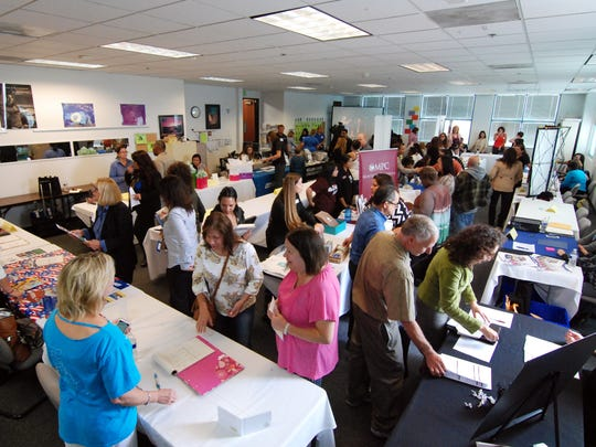Job seekers and potential employers fill one room of four dedicated to the 1st Annual Salinas Community Job Fair at America's Job Center on Thursday.