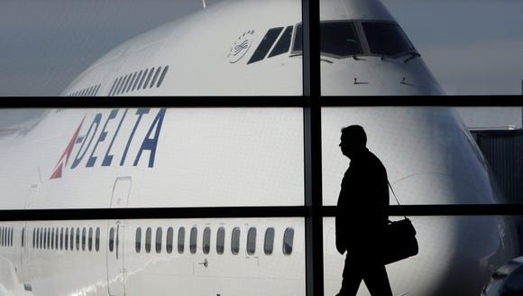 This file photo from Jan. 21, 2010, shows a Delta Air