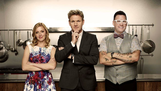 """MasterChef"" judges Christina Tosi, Gordon Ramsay and Graham Elliot."