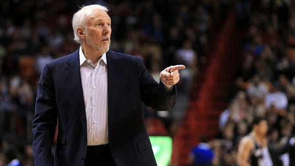 Head coach Gregg Popovich of the San Antonio Spurs