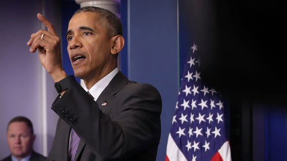 President Obama speaks to student journalists at a