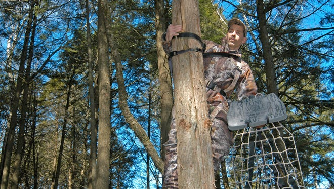 "Hang-on tree stands account for about 55 percent of tree-stand falls, possibly because they require more strength to install, and use ""secondary"" climbing devices such as tree steps."