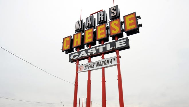 The Mars Cheese Castle sign towers over the site of the Kenosha County shop in 2011, when Mars completed an earlier expansion of its business.