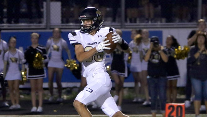 Franklin's Elliot Harris finds the end zone.