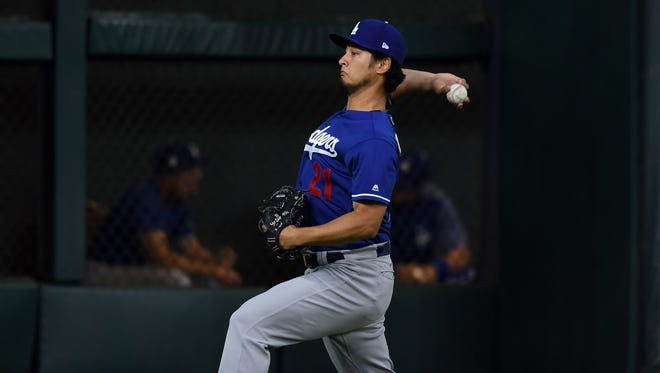 Yu Darvish will start Game 7 for  the Dodgers, if needed.