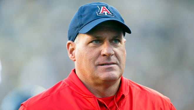 Oct 7, 2017; Boulder, CO, USA; Arizona Wildcats head coach Rich Rodriguez stands on the field prior to a game against the Colorado Buffaloes at Folsom Field. Mandatory Credit: Russell Lansford-USA TODAY Sports
