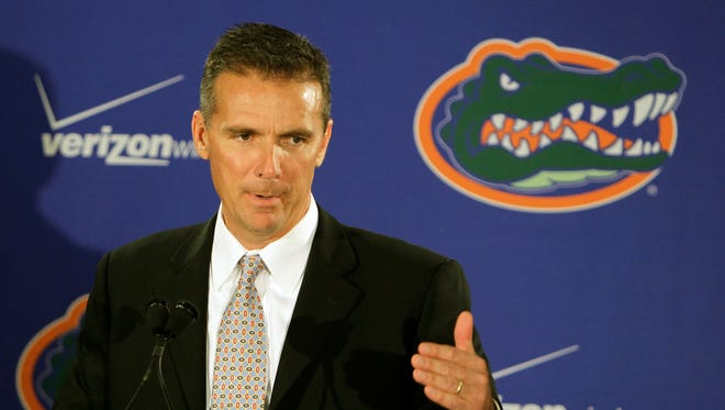 Urban Meyer stepped down as head coach of Florida at the end of the 2010 season. He went 65-16 and won two national championships in six seasons.