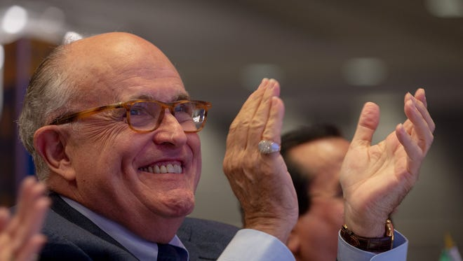 Rudy Giuliani attends the Conference on Iran on May 5, 2018, in Washington, D.C.