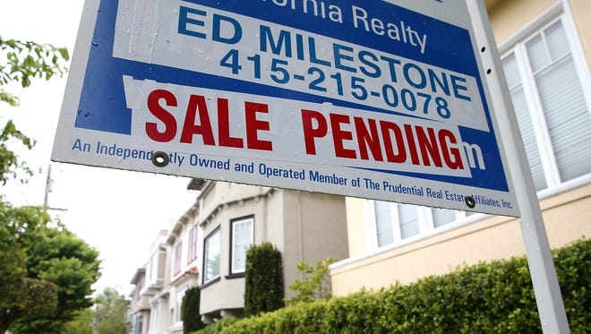 SAN FRANCISCO, CA - MAY 28:  A sale pending sign is posted in front of a home for sale on May 28, 2013 in San Francisco, California.  According to the Standard & Poor's Case-Shiller index, U.S. home prices surged 10.9 percent in March compared to one year ago, the largest gain since 2007.  Phoenix, Arizona recorded the largest gains with prices spiking 22.5 percent and San Francisco, California was a close second with gains of 22.2 percent.  (Photo by Justin Sullivan/Getty Images) ORG XMIT: 169717890 ORIG FILE ID: 169597697