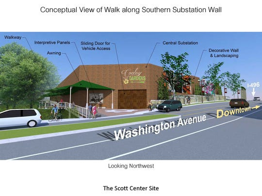 View of proposed updates for Cooley Gardens.