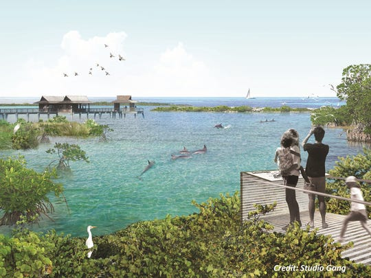 A rendering of what the National Aquarium's oceanside
