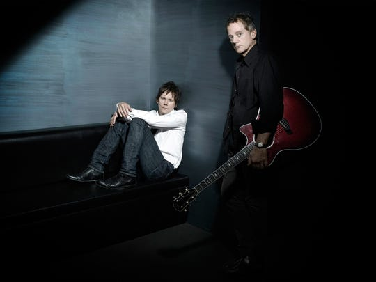 Kevin, left, and Michael Bacon have been playing music for 22 years as the Bacon Brothers.