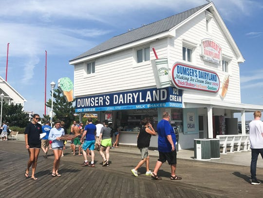 The building that houses Dumser's Dairyland on the Boardwalk in Ocean City, Md., is one of the few on the east side of the Boardwalk.