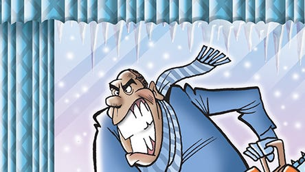 The freezing weather is almost as annoying as...