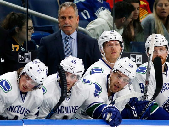 USP NHL: VANCOUVER CANUCKS AT BUFFALO SABRES S HKN BUF VAN USA NY