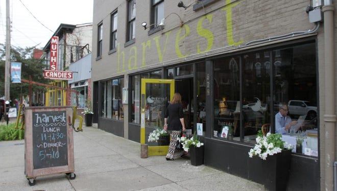 Exterior of the Harvest restaurant at 624 East Market Street. July 8, 2015