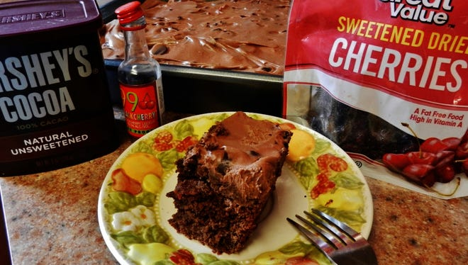 Chocolate cherry cake just in time for summer celebrations.