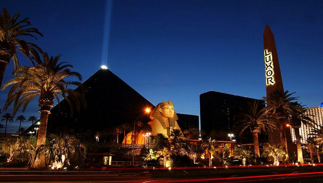 The Luxor Hotel and Casino is seen on May 30, 2002 in Las Vegas.