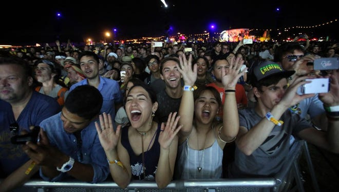 The @bon_nappetit's food shots from Coachella in California (audience pictured) had columnist Karen Schloss rethinking the whole festival.