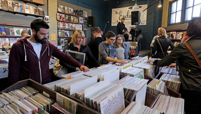 The Exclusive Company has the largest inventory of records in Milwaukee. The shop will open at 7 a.m. Saturday for Record Store Day.