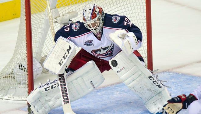 Columbus Blue Jackets goalie Sergei Bobrovsky is 4-4 this season.