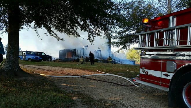 A home in south Madison County was completely destroyed after a fire Saturday afternoon.